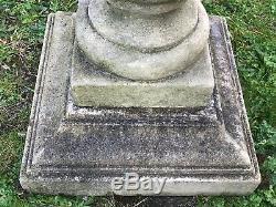 1 Large Vintage Stone 20th Century 1970's Stately Garden Bird Bath Water Feature