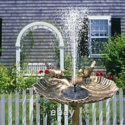 10XMini Solar Water Fountain Pump Floating Bird Bath Brushless Pump for Garden