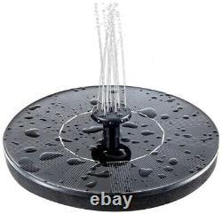 10XSolar Bird Bath Fountain Pump 1.4W Solar Fountain with 4 Nozzle Garden Q1W1