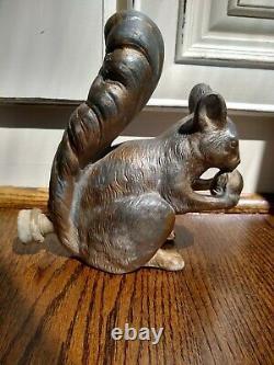 1920s Antique Metal Squirrel Lawn Garden Water Sprinkler Bird Bath Fountain Old