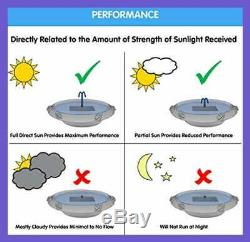 20622R01 Country Gardens Solar Birdbath Fountain GRAY Weathered Stone Finish Des