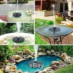 20XSolar Bird Bath Fountain Pump 1.4W Solar Fountain with 4 Nozzle Garden A0S5