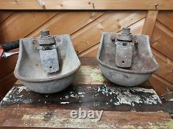 2xVintage reclaimed industrial Bamfords Uttoxeter Water trough/bird bath/feeder
