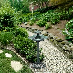3 Tier Outdoor Fountain Garden Decor Planter Water Bird Bath Birdbath WITH PUMP
