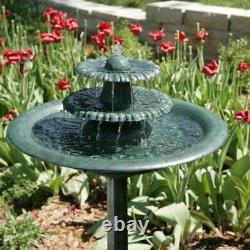 3 Tier Outdoor Indoor Bird Bath Water Fountain Garden Yard Patio Home Decor