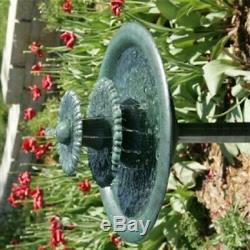 3 Tier Outdoor Water Fountain with Pump Garden Decor Pedestal Bird Bath Patio Yard
