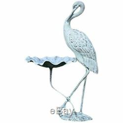 33086 Crane Birdbath Garden Outdoor