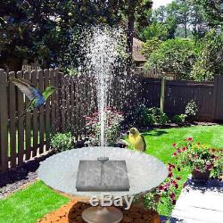4W Outdoor Solar Powered Floating Water Fountain Pump Bird Bath Garden Pond Pool