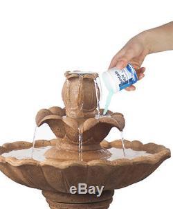 70cm Ruthwell Solar Bird Bath Water Feature Outdoor Garden Cascade Fountain