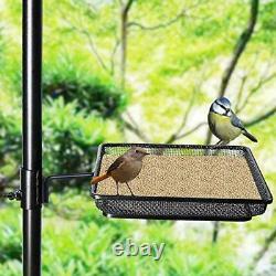 92in Bird Feeder Deck Pole Wild Bath Squirrel Proof Seed Station Hanging Garden