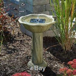 Acadia solar birdbath green 20633r01 smart fountain outdoor garden smartsolar