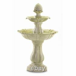 Acorn Garden Statue Bird Bath Outdoor Patio Pedestal 3 Tiers Water Fountain New