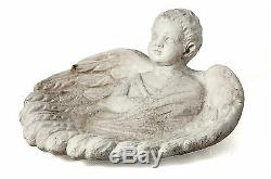 Angel Garden Bird Bath-Birdbath by Orlandi Statuary Made of Fiberstone FS8535