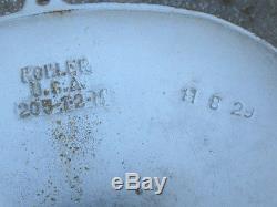 Antique Bird Bath Garden Cast Iron Pedestal Porcelain Art Sink Basin Table Stand
