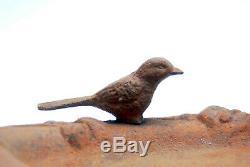 Antique Cast Iron Bird Bath Feeder Hummingbird Finch