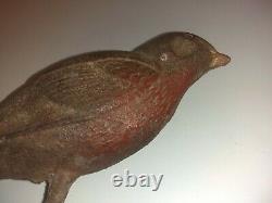Antique Cast Iron Bird For Bird Bath. Robin Oriole