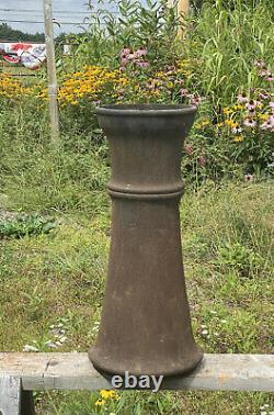 Antique Iron Pipe Section Early Street Light Post Garden Orb, Birdbath