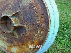 Antique MUMMERT-DIXON Hanover PA Industrial Cast Iron Garden Bird Bath Feeder