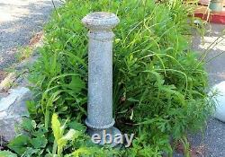 Antique Old Birdbath Garden Planter Vintage Cast Cement Architectural Column 37
