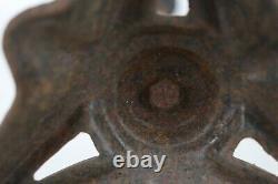 Antique Vintage Cast Iron Pedestal Stand End Table Birdbath Base 23 Tall