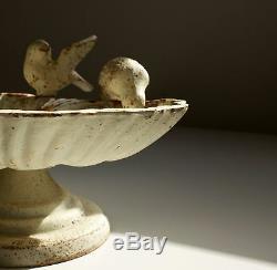 Antique french Cast Iron Bird Bath Drinking garden
