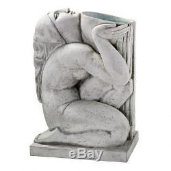 Art Deco Stylized Roman Water Goddess Bowl Garden Water Feature Birdbath Statue
