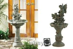 Backyard Water Fountain Bird Baths For Outdoors Zen Garden Cherub Fairy Lawn