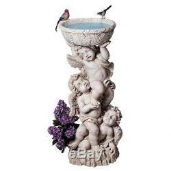 Baroque Cherub Statue Baby Angel Birdbath Sculpture Yard Garden Decor