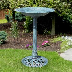 Best Choice Products Pedestal Bird Bath Garden Decor. Free Shipping