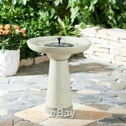 Better Homes & Gardens Calypso Oversized Free Standing Concrete Solar Bird Bath