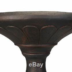 Better Homes & Gardens Fairfield Solar Powered Bird Bath Antique Bronze