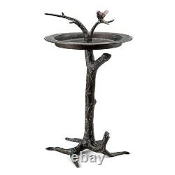 Bird And Twig Birdbath Sundial Sculpture Garden Bird Bath Feeder SPI Home