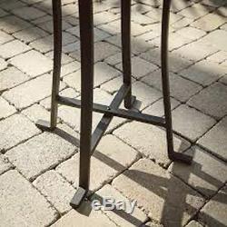 Bird Bath Concrete Solar Power Steel Stand Outdoor Greek Style Garden Patio New