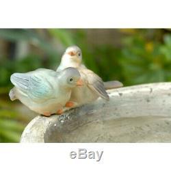 Bird Bath Fountain Outdoor Water Birdbath Pedestal Garden Pump Girl Electric