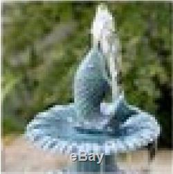 Bird Bath Fountains Pedestal Garden Outdoor Water Pump Patio Birdbath Yard New