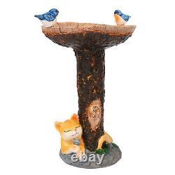 Bird Bath Garden Decorative Outdoor Sculpture Birdbath Lawn Ornament Tray