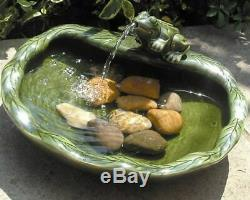 Bird Bath Solar Fountain Water Feature Trickling Indoor Outdoor Patio Garden Eco