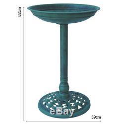 Bird Bath Traditional Patio Outdoor Garden Pedestal Ornament Birds Water Bowl