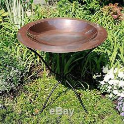Bird Baths Achla Designs 24-in Round Classic Copper Birdbath Bowl Pet Garden