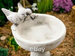 Bird Drinking Bowl On A Foot Concrete Birdbath Concrete Figure Garden Figure