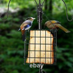 Bird Feeder Pole Planter Hanger Kit Wild Bath Squirrel Proof Seed Station Garden
