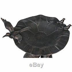Birdbath Crane Birdbaths Cast Aluminum Antiqua Garden Outdoor Space Design New