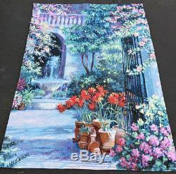 Birdbath Fountain Floral & Garden Entranceway Grande Tapestry Wall Hanging