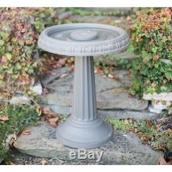Bloem Birdbath Bird Feeder 2 Pack All Season Grecian Plastic Garden Pedestal