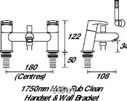 Bristan OR BSM C Orta Bath Shower Mixer Chrome Plated