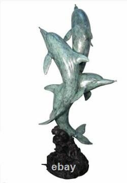 Bronze Garden Fountain Dolphins