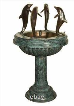 Bronze Garden Fountain with Dolphins