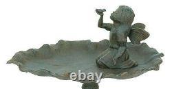 Cast Iron FAIRY Bird Bath Outdoor Garden Decor Sculpture Decoration Statue Art