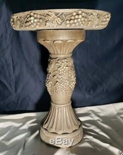 Cast Stone Napa Bird Bath Massarelli Hand Crafted Garden Decor 2004 Beautiful