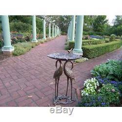 Crane Lily Birdbath Statue for Home Garden Outdoor Patio Yard Decor Bird Bath